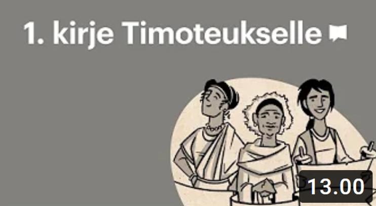 Osa 20 - 1. Kirje Timoteukselle